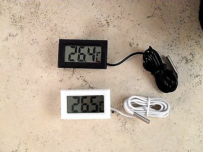 Digital LCD Aquarium Fish Tank Fridge Reptile Vivarium Thermometer Temperature
