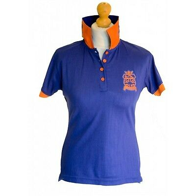 Chillout Royal Blue Statement Collar Polo Shirt Size L. BNWT.