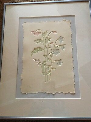 Susan Zythewick Limited Edition Embossing on Paper 198/350 Framed 12 X 15
