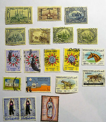Middle East Iraq In British Occupation Collection of 19 x stamps lot745