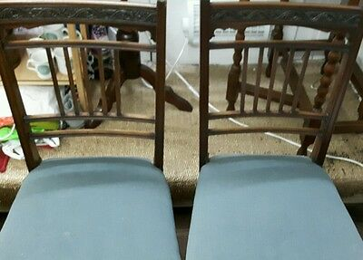 Pair Of Edwardian Chairs By R. Garnett And Sons