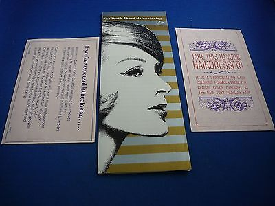 1964-65 New York World's Fair Clairol Hair Coloring Booklet & Cards