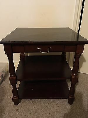 Small Telephone Table Side Hall Phone Stand With small Drawer mahogany coloured