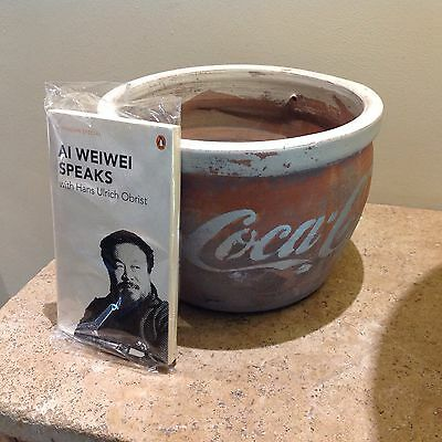 Ai WeiWei Speaks Penguin Book And A Pottery Bowl In The Style Of