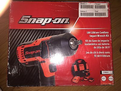 """New Snap On 18volt 1/2"""" Drive Impact Wrench kit Ct8850hv"""