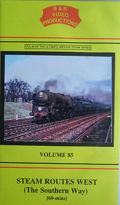 Steam Routes West (Southern Way) - B&R Vol 85 - Railway VHS Video