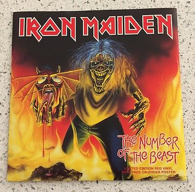 "IRON MAIDEN * THE NUMBER OF THE BEAST * RED VINYL 7"" SINGLE EMI 5287 New"