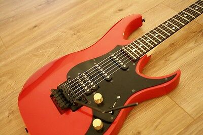 Fender Heartfield Frost Red 6 String Electric Guitar Made in Japan 1991 Rare
