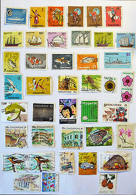 Singapore Collection Of Stamps QEII lot768