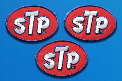 3 LOT STP OIL 3X2 Inch Embrodered Iron Or Sewn On Patches Free Ship
