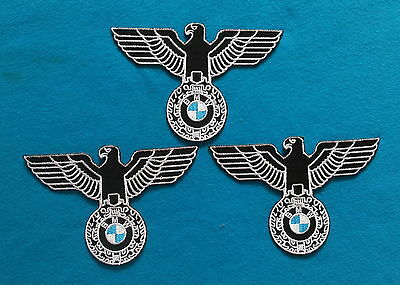 3 LOT BMW 3 INCH  Embroiderd Easy Iron Or Sewn On Patches Free Shipping