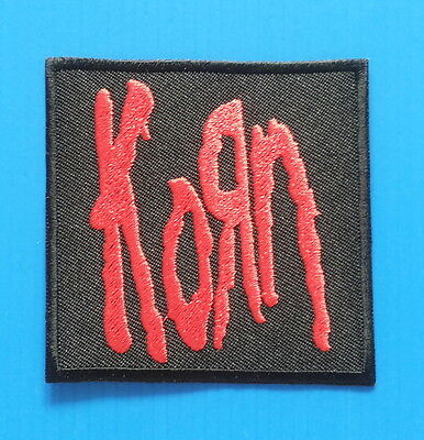 KORN METAL  Band Embrodered Iron Or Sewn On 3 Inch Patch Free Ship