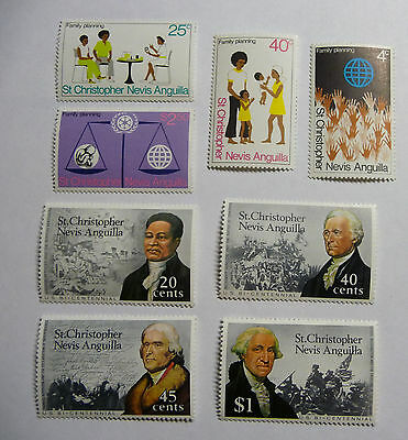 British Colonies St Christopher Nevis Anguilla St. Kitts Stamps mint lot771