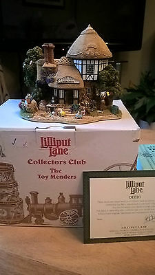 Stunning Lilliput lane Collectors club The Toy Mender's L2665 Boxed w/deeds.