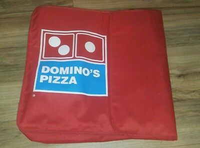 Domino's pizza delivery red carrying bag heat wave thermal vintage insulated