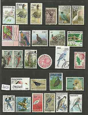 3421~~   SELECTION of fine used   BIRD  STAMPS...............~~~