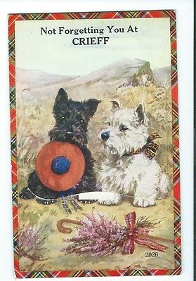 CRIEFF - Novelty Pull Out Postcard