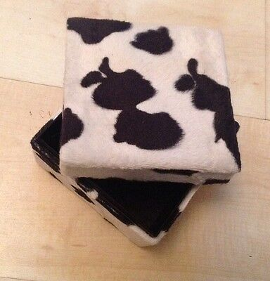 Furry Animal Print Box For Trinkets Jewellery And Nik Naks