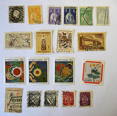 Portugal Portuguese Colonies Ceres King Luis I 1870 Old Early Stamps lot678