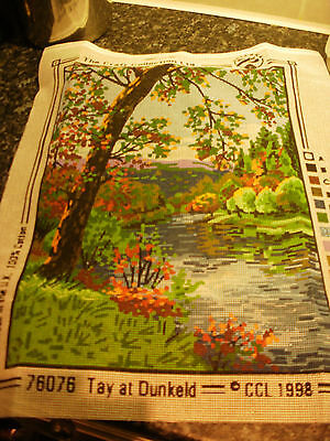 "PRINTED TAPESTRY KIT THE CRAFT COLLECTION 11.5 x 15.5"" INCH TAY AT DUNKELD"