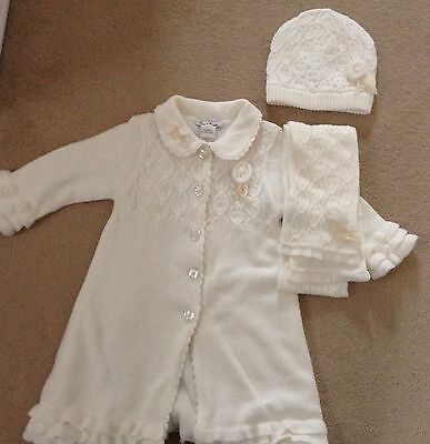 Traditional Designer Sarah Louise Coat with matching hat and scarf Aged 2 Years