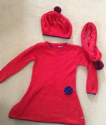 Spanish Designer Tutto Piccolo Dress with matching hat and scarf