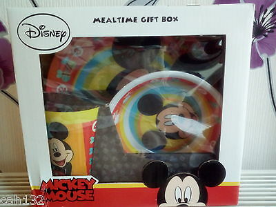 Disney Mickey Mouse Mealtime Gift Box New Boxed 3 Piece Set