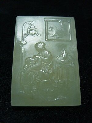 FINELY CARVED  CHINESE Jade Statue/ Pendant     a9