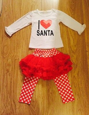 Gorgeous Christmas Outfit, 110cm, Approx 3-4 Years, Trousers With Tutu And Top