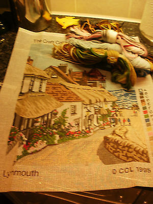 "PRINTED TAPESTRY KIT THE CRAFT COLLECTION 12 x 16"" INCH, LYNMOUTH"