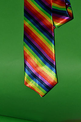 BNWT Claire's Rainbow Tie. Great Christmas Gift of Stocking Filler!