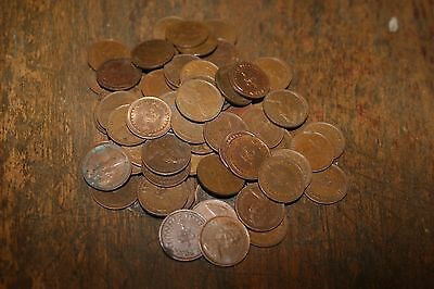 88 half pence pieces from 1974 until withdrawn various dates and quality