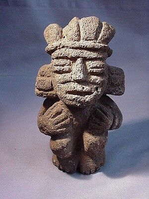 Ancient Stone Carved Aztec Mayan Inca Figure
