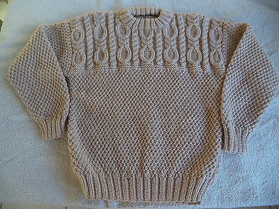 "Boys hand knitted jumper 26"" chest approximate age 4-5 years  Beige"