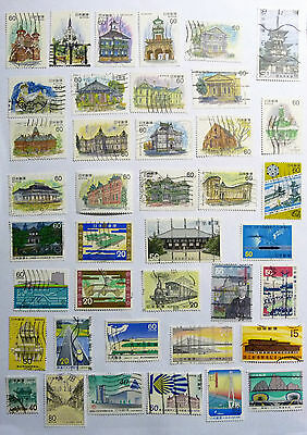 Japan Japanese Nippon Mix of stamps Building Train Temple lot703