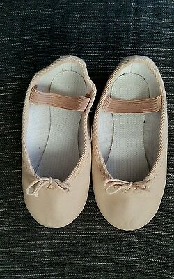 Girls Pink Ballet Shoes Size 8