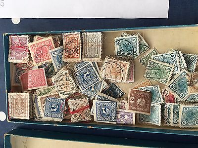 Austria very early stamps in bundles and loose in small box about 1000