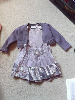Next 3 piece outfit, short sleeved top, skirt and cardigan aged 12-18 months