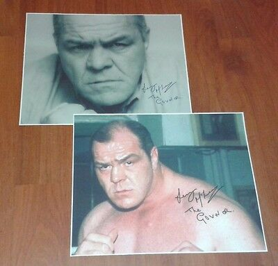 Lenny Mclean The Guvnor Signed Pictures. Large Set Of 2 Unlicensed Boxer. Krays.