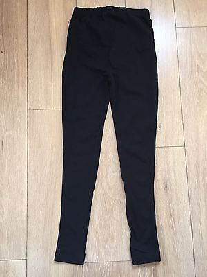 Two Pairs Black Maternity Leggings Size Small Bundle