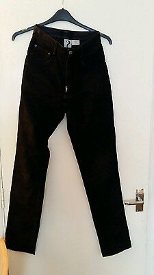 vintage retro rare black suede leather jeans 28w 31 i-leg by air london