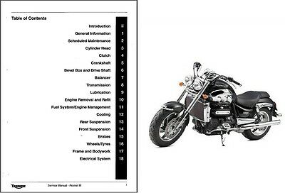 2004-2013 Triumph Rocket III Service & Owner's Manual on a CD