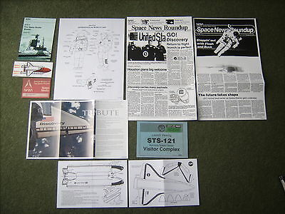 NASA related documents memorabilia Space Shuttle STS mission
