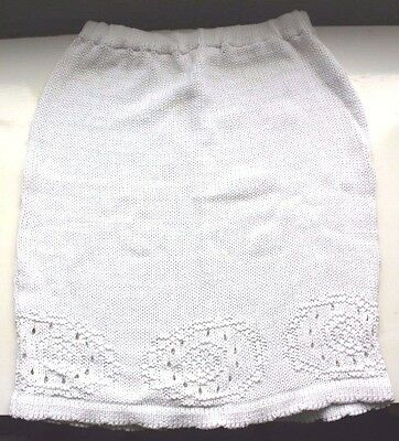 Vintage white knitted pencil skirt (Size M)