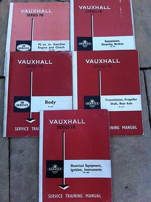 Vauxhall Series Fb. Service Training Manuals. In 5 Parts/books. See Description