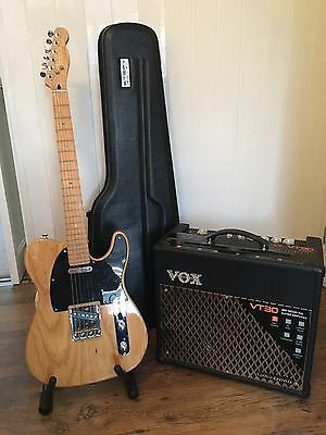 Fender Telecaster & VOX VT30 Amp with accessories.