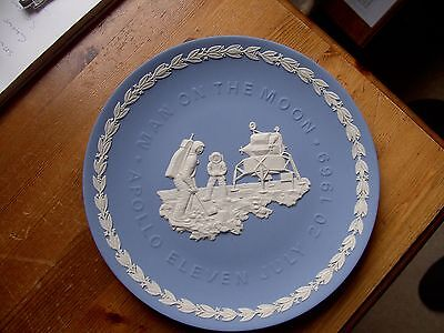 A Wedgwood Blue Jasperware Man on the Moon plate.