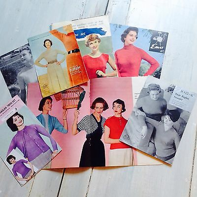 VINTAGE WOMENS 1950s  PATTERNS BOOKLET JOB LOT
