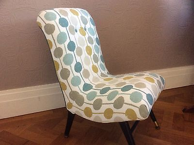 Reupholstered Early/Mid Century Bedroom/Nursing/Feature Chair - Scion Fabric