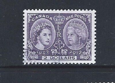 ### NEW ### Canada 2012 QE II Diamond Jubilee $2 issue - used off paper ##